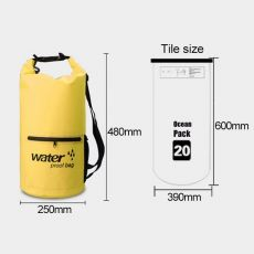 Waterproof Bag Dry Dual Shoulder Strap Bag Dry Sack PVC Barrel Backpack, фото 3