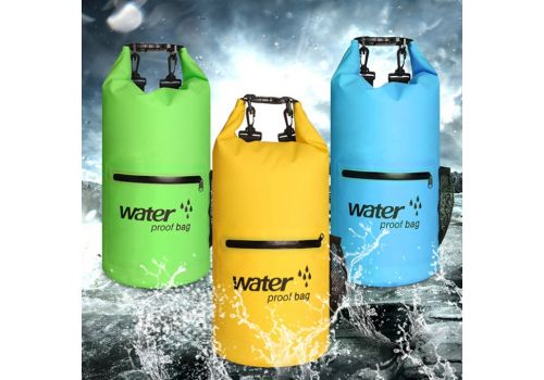 Waterproof Bag Dry Dual Shoulder Strap Bag Dry Sack PVC Barrel Backpack, фото 1